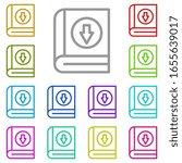 book  download multi color icon....