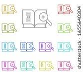 research  book multi color icon....