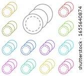cotton multi color icon. simple ...