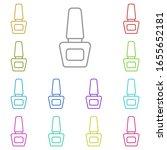 nail polish multi color icon....