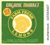 vintage farm fresh organic... | Shutterstock .eps vector #165565607