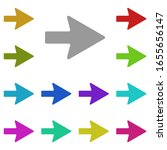 right arrow multi color icon....