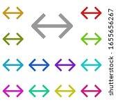 horizontal arrow in different...