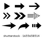 arrows set of black icons... | Shutterstock .eps vector #1655658514