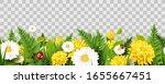 spring time seamless border...   Shutterstock .eps vector #1655667451