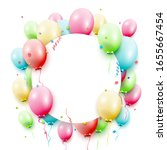 birthday template with colorful ... | Shutterstock .eps vector #1655667454