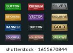 3d icon set on black backdrop.  | Shutterstock .eps vector #1655670844