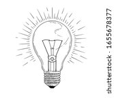 sketch lightbulb isolated on a... | Shutterstock .eps vector #1655678377