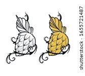 hops beer vector illustration... | Shutterstock .eps vector #1655721487