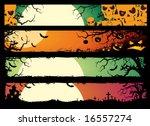 halloween banners | Shutterstock .eps vector #16557274