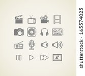 vector icons with creative...