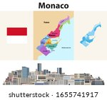 monaco wards map with... | Shutterstock .eps vector #1655741917