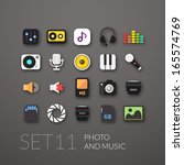 flat icons set 11   audio and...