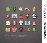 flat icons set 3   holiday...
