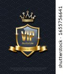 vip invitation with shiny... | Shutterstock .eps vector #1655756641