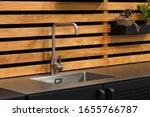 wooden panels kitchen interior... | Shutterstock . vector #1655766787