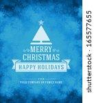 christmas snowflakes light... | Shutterstock .eps vector #165577655