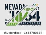 nevada stylish typography...   Shutterstock .eps vector #1655780884