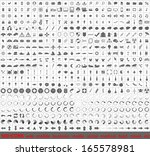 large set of 500 very detailed... | Shutterstock . vector #165578981