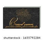 business card for a beauty... | Shutterstock .eps vector #1655792284