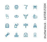editable 16 death icons for web ... | Shutterstock .eps vector #1655815204