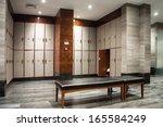 interior of a locker changing... | Shutterstock . vector #165584249