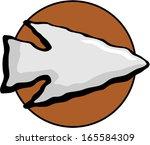 stone arrow point | Shutterstock .eps vector #165584309