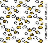 Popcorn Seamless Doodle Pattern ...