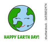 vector card for earth day. go... | Shutterstock .eps vector #1655852974