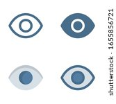 eye icon in isolated on white...