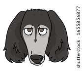 cute cartoon saluki dog face...   Shutterstock .eps vector #1655856877