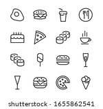 a simple set of fast food icons ... | Shutterstock .eps vector #1655862541
