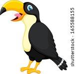 toucan bird cartoon | Shutterstock .eps vector #165588155