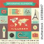 flat infographic elements plus... | Shutterstock .eps vector #165588647