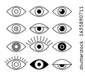 Outline Eye Icons. Sight And...