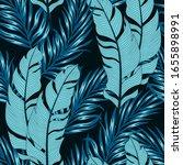 summer seamless tropical... | Shutterstock .eps vector #1655898991
