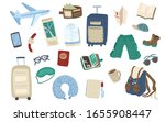 set of travel items. collection ...   Shutterstock .eps vector #1655908447