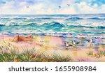 Watercolor Baltic Sea View....