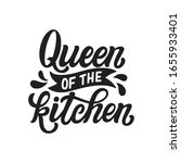 queen of the kitchen. hand... | Shutterstock .eps vector #1655933401