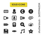 user icons set with music note  ...