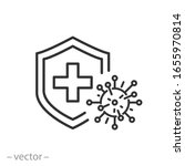 immune from flu germ icon ... | Shutterstock .eps vector #1655970814
