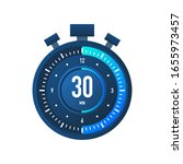 the 30 minutes  stopwatch...   Shutterstock .eps vector #1655973457