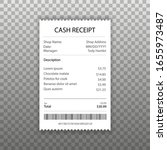 receipt icon in a flat style... | Shutterstock .eps vector #1655973487