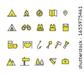 camping vector outline icons.... | Shutterstock .eps vector #1655975461