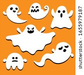 flat design ghost characters... | Shutterstock .eps vector #1655979187