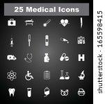 16 medical icons. eps 10. | Shutterstock .eps vector #165598415