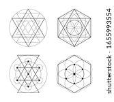 sacred geometry vector symbols...   Shutterstock .eps vector #1655993554