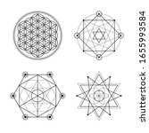 sacred geometry vector symbols... | Shutterstock .eps vector #1655993584