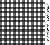 Black Gigham Pattern Vector...
