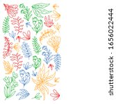 hand vector drawn floral ... | Shutterstock .eps vector #1656022444